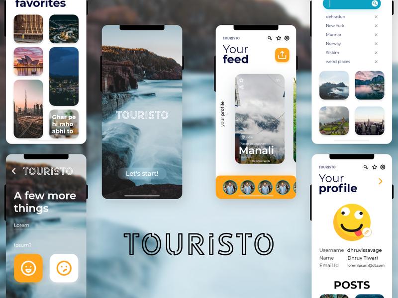 Touristo app concept uidesign concept user interface ux ui user experience app design icon ui web ios guide app design