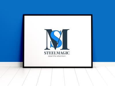 SteelMagic logotype branding logo design logo