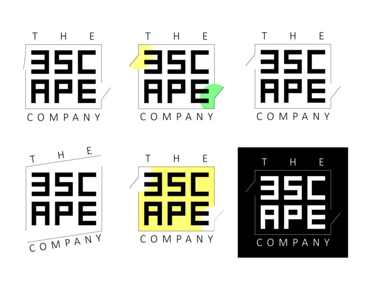 Logo for the ESCAPE company flat design vector branding typogaphy logotype flat logo design logo