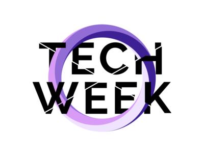 Tech Week logo logos icon typogaphy illustration logo design logo branding technology fest event tech