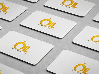 Oil Well Services clean identity illustrator minimal type vector lettering icon illustration typography branding design logo
