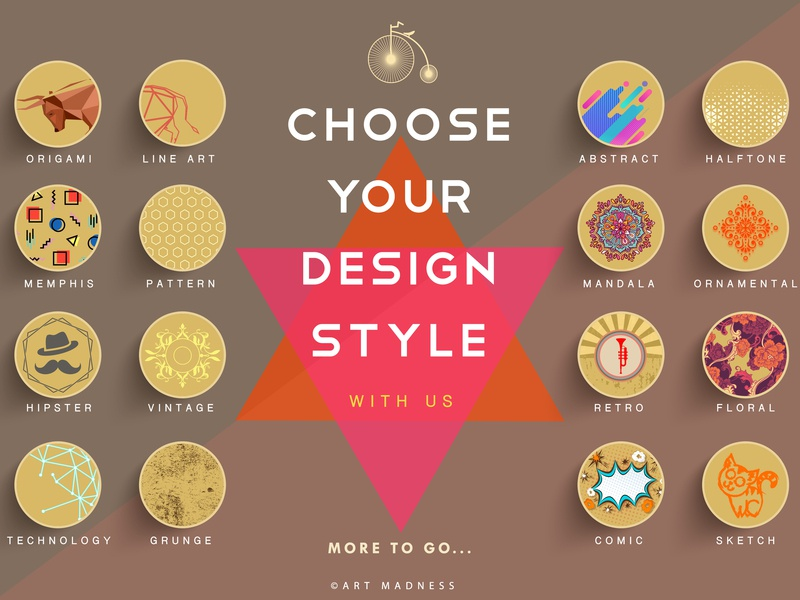 Choose Your Design Style icons type graphic  design character animation minimal creative design brand logo lettering identity art vector typography illustrator illustration icon design clean branding