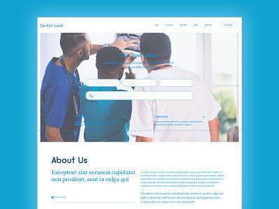 Dentist Land ui  ux design website builder app branding clean website branding ux ui
