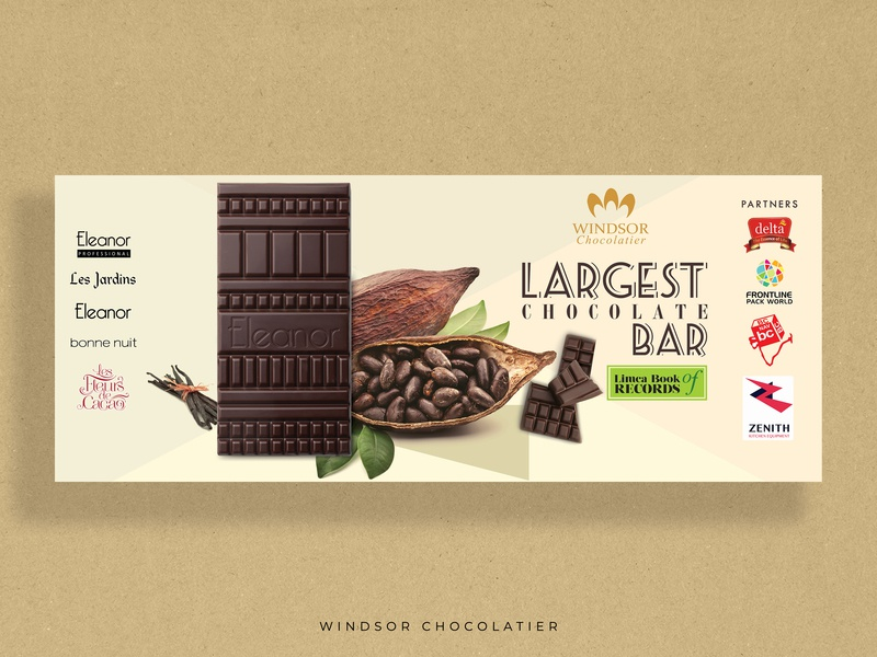 Windsor Chocolatier event graphics background graphic design creative design art typography design branding