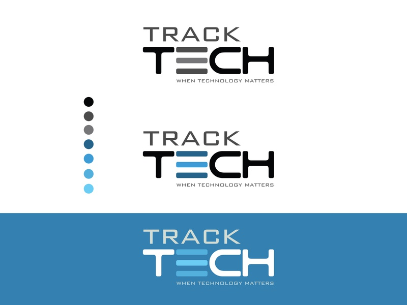 Track Tech - Tracking Technology (GRL) brand identity graphic designing illustrator design clean typography identity illustration creative design logo branding
