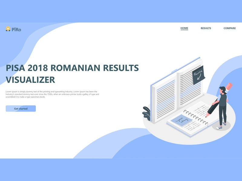 PISA Romania Result Visualizer Homepage education website education home screen homepage design homepage branding button website webpage daily ui app ux adobe xd ui design