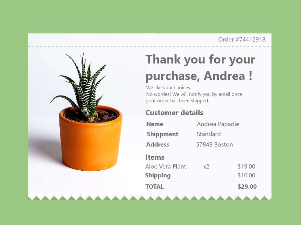 Email Receipt- Daily UI 017 emailreceipt daily ui ui adobe xd design daily 100 challenge
