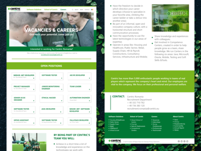 Vacancies & Careers Page- Centric IT Solutions Redesign