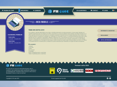 FIICODE Web/Mobile Area Page