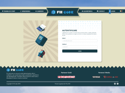 FIICODE Log In Page