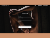 Fitness App Register Page