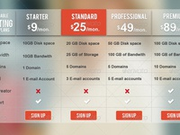 Transparent   Color Clean Web Pricing Table