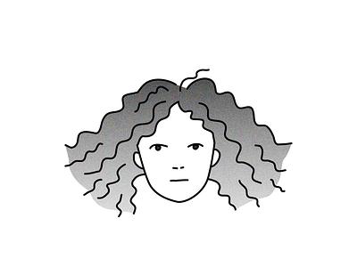 Self Portrait persona selfportrait portrait vector artwork artwork vector art digital icon logo sketch branding profile character design head vector illustration character design