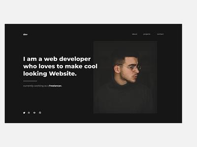 Homepage website app flat illustration typography web minimal ux ui design