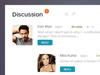 Discussion widget