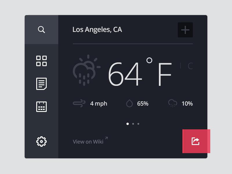 Los Angeles, CA metro ui ux widget ios7 settings app climacons menu weather icons flat