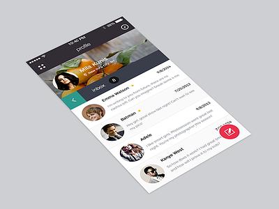 Inbox email metro ui ux social inbox flat profile ios7 menu icons user