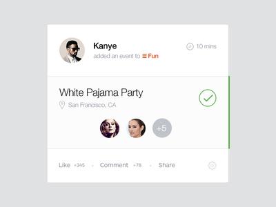 Pajama Party widget