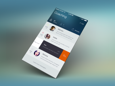 Coaching IO7 concept metro ui ux user coach icon ios7 flat message mail update iphone