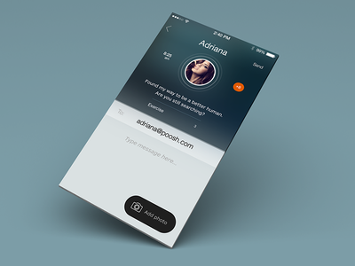 Messaging IOS7 ui ux popup user metro send profile account email button flat gradient