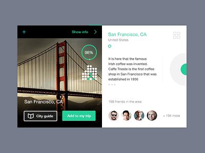 San Francisco City Card ui ux city social