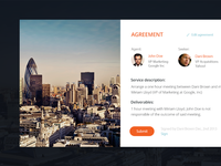 Agreement widget
