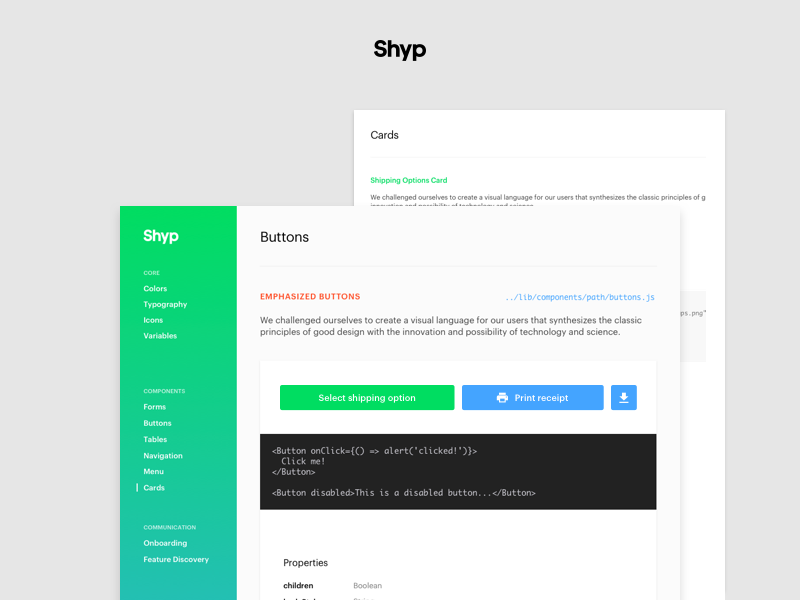Components Library is live! by Julia Khusainova for Shyp on