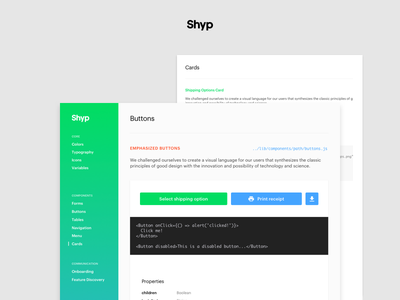 Components Library is live! react keyboard brand icon iconography typography form shyp ux ui style guide