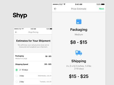 Price Estimator keyboard brand icon iconography typography form logo shyp ux ui style guide