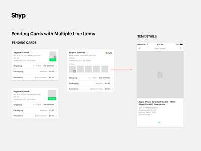 Pending Cards Wires keyboard brand icon iconography typography form logo shyp ux ui style guide