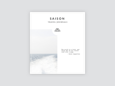 Saison Magazine Cover 🌿 keyboard brand icon iconography typography form logo shyp ux ui style guide