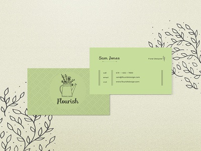 Flourish Biz Cards