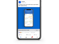 Facebook Ad for Coinbase