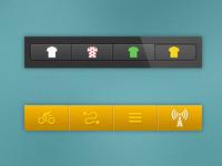 Tour de France app tabs