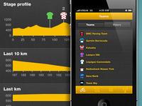 Tour de France app stages and teams