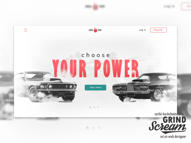 "Design Concept of Homepage ""Power Trade"""