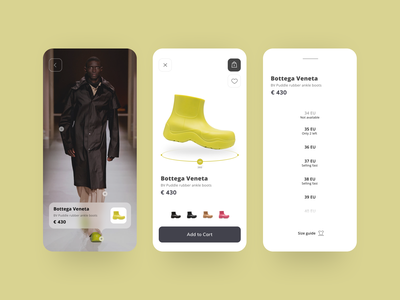 Fashion e-commerce - Mobile App runway fashion app mobile app mobile design shopping app e-commerce app e-comerce ui design web ux app