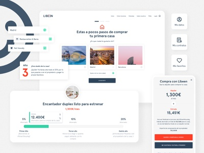 Libeen Property Marketplace - Product Design animation mortgage property search property management property landing page web design ui  ux product design