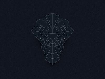 Triceratops Outline blockchain ethereum eth identity design outline dinosaur branding polygon mascot logo