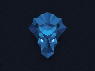 Triceratops polygon blockchain ethereum dinosaur mascot logo logomark identity design crypto branding