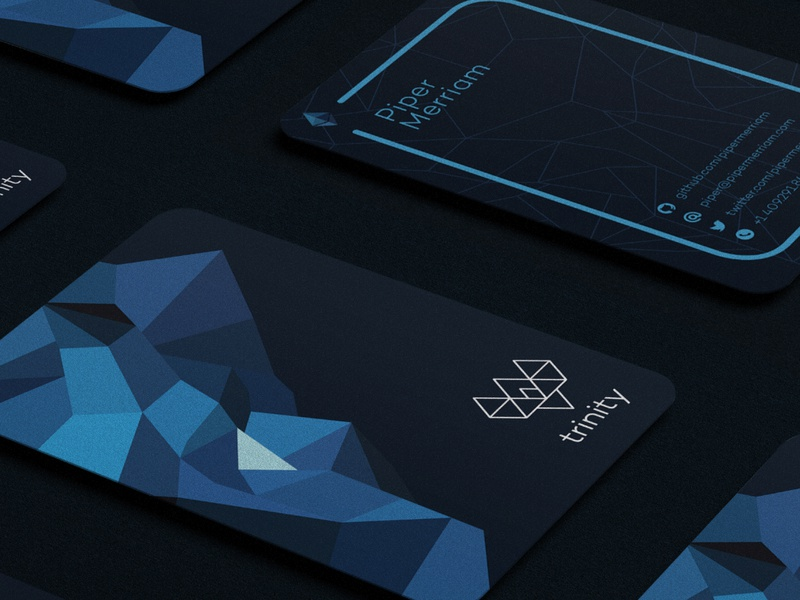 Trinity Cards blockchain ethereum stationary business card design crypto identity design branding