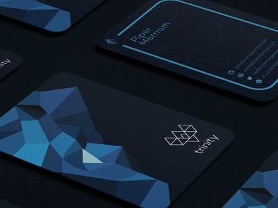 Trinity Cards blockchain ethereum stationary business card design crypto identity design branding