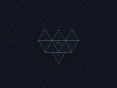 Trintiy Logomark Outline blockchain ethereum triangles logo crypto logo design identity design branding
