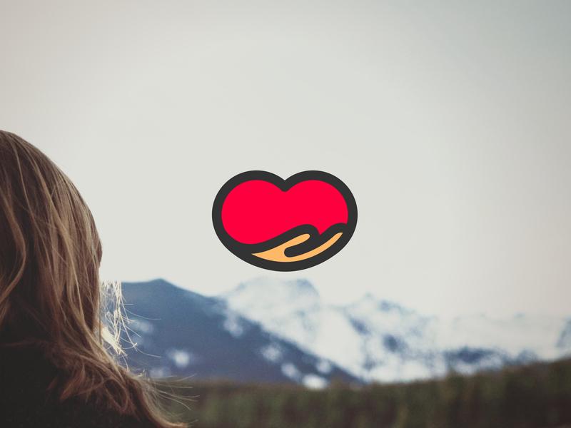 Nona Logo Mark health hand heart branding logo symbol logo mark logo design logo