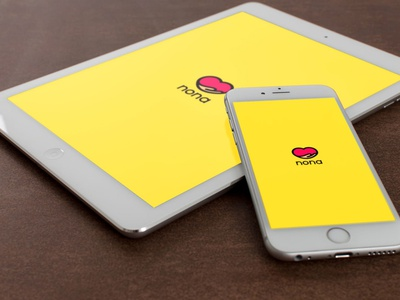 Nona Logo Mockup yellow mockup logo design logo brand design branding