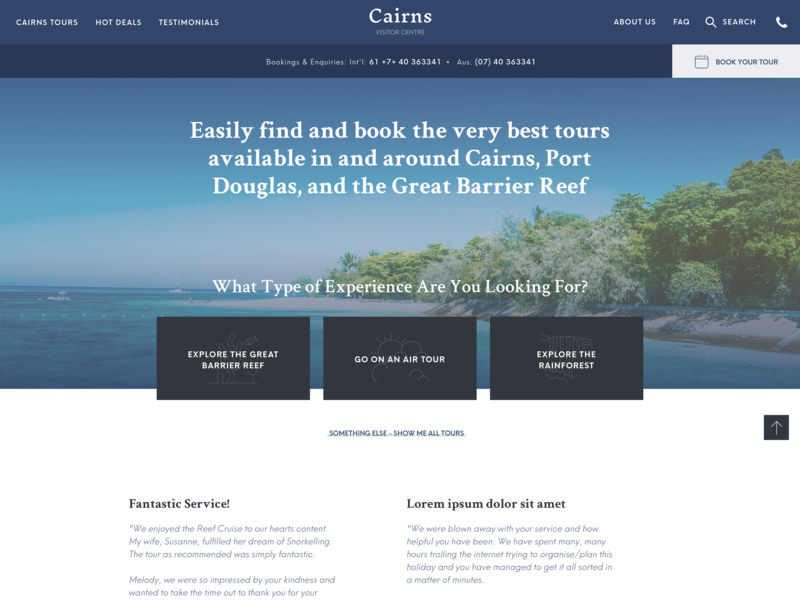 Data-Driven Website Design for Tour Booking Company