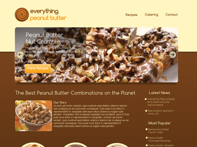 Everything Peanut Butter Web Design