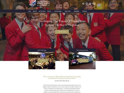 The All American Boys Chorus Landing Page