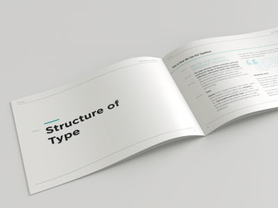Brand Guidelines: Structure of Type