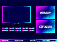 Neon Twitch Overlay